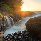 Queens Bath Falls - Kauai by Michael Treloar