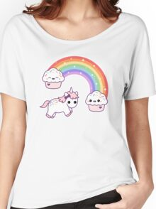 Cute Cupcake Unicorn Women's Relaxed Fit T-Shirt