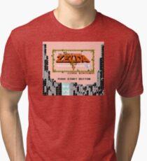 The Legend of Zelda - Title Screen Tri-blend T-Shirt