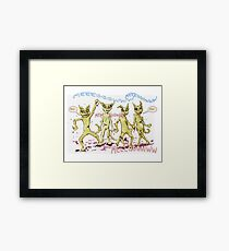 Zombie Cats Framed Print