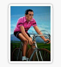 Fausto Coppi Painting Sticker