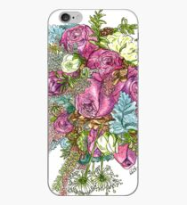 Roses & Dusty Miller iPhone Case