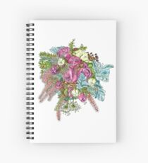 Roses & Dusty Miller Spiral Notebook