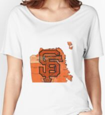San Francisco Giants Map Women's Relaxed Fit T-Shirt