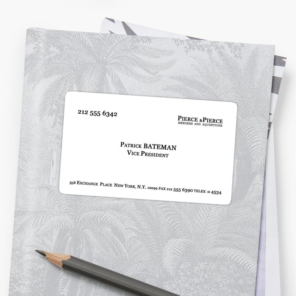 American Psycho - Patrick Bateman Business Card\