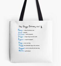 The Doggo Dictionary, Part 1:  A Smol Pupper Comic Tote Bag
