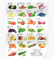 Unusual Fruit + Veg Poster