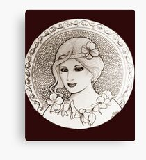 graphic art nouveau Canvas Print