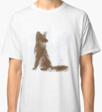 Brown Finger Painted Arctic Fox Classic T-Shirt