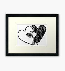 heart-shaped box Framed Print