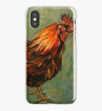 Brown rooster Isle of Aran. 2012Ⓒ Oil on canvas 51x41cm  iPhone Case/Skin
