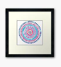 Watercolor Mandala Framed Print