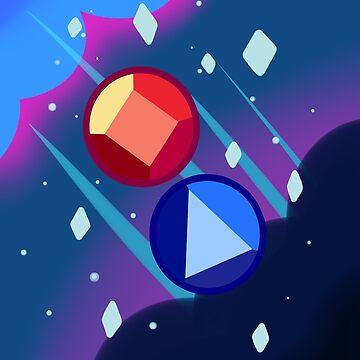 Ruby & Sapphire by JankyWeeaboo