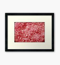Pink Bath Salts Framed Print
