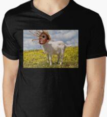 THUGGA THE GOAT Men's V-Neck T-Shirt