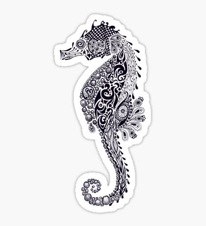 Seahorse Doodle Sticker