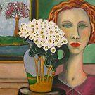 Girl with Art Deco Jug by Redlady