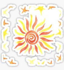 Hand drawn watercolor seamless pattern. Sticker