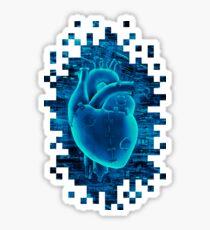 Gamer Heart BLUE TECH Sticker