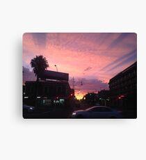 Powder Pink Urban Scape Canvas Print