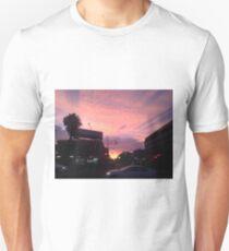 Powder Pink Urban Scape Unisex T-Shirt