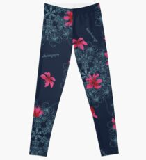 Seamless pattern abstract flower ornament Leggings