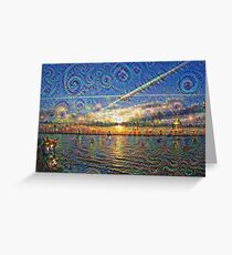 DeepDream Pictures, Landscapes 002.2 Greeting Card