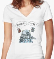 The Inner Workings of the Dalek Mind Women's Fitted V-Neck T-Shirt