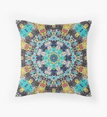 Concentric Abstract Mandala Throw Pillow