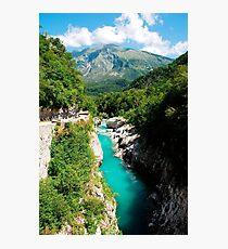 Soca River Near Kobarid Photographic Print
