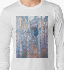 1894-Claude Monet-Rouen Cathedral, West Façade-65 x 100 Long Sleeve T-Shirt