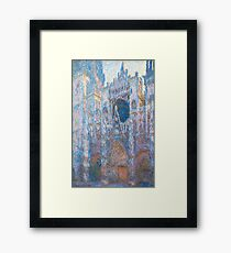 1894-Claude Monet-Rouen Cathedral, West Façade-65 x 100 Framed Print