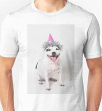 Cassie in party hat! Unisex T-Shirt