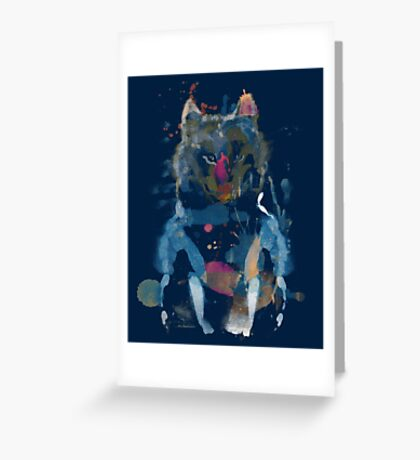 watercolor little foxy Greeting Card