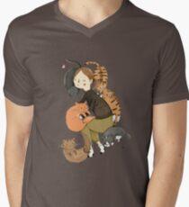 Cat Love Mens V-Neck T-Shirt