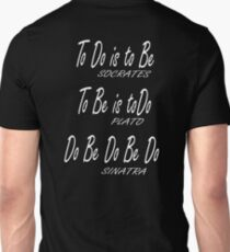 Do be Do be Do, Greek version, MUSIC, Frank Sinatra Lyrics, on BLACK T-Shirt