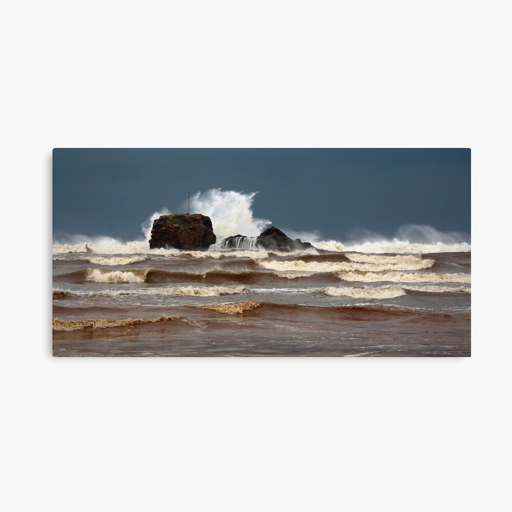 Storm Crashing on Chapel Rock Canvas Print