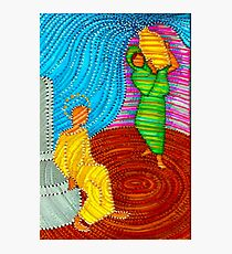 Jesus and the Samaritan Woman Photographic Print