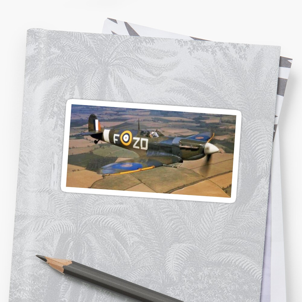 SPITFIRE, British, Airplane, Fighter, WWII, 1942, Spitfire VB of 222 Squadron by TOM HILL - Designer