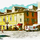 Teramo: square and buildings by Giuseppe Cocco