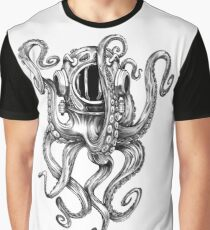 Octopus Scuba Diver Helmet Graphic T-Shirt