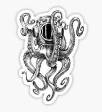 Pegatina Casco de buceo Octopus Scuba Diver
