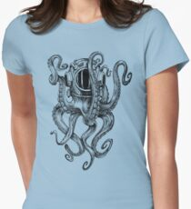 Octopus Scuba Diver Helm Tailliertes T-Shirt