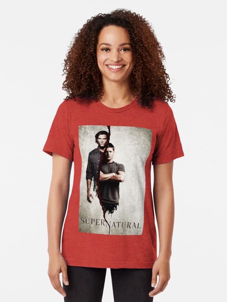 Alternate view of Supernatural 1 Tri-blend T-Shirt