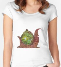 Wood be snazzy snail Women's Fitted Scoop T-Shirt