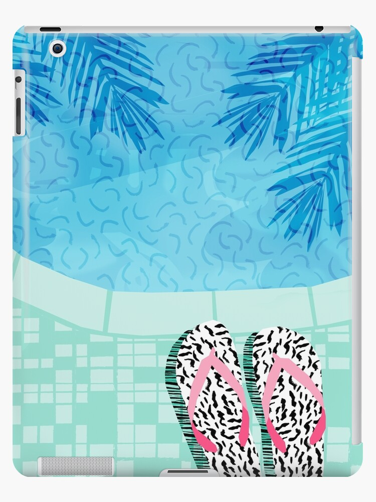 4bfcb09180b Go Time - swimming retro pool resort oasis palm springs throwback memphis  neon trendy 80s art abstract swimmer athlete tropical vacation
