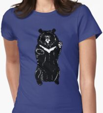 Black himalayan bear Womens Fitted T-Shirt
