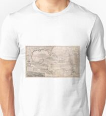 Vintage Map of The Caribbean (1732) 2 Unisex T-Shirt