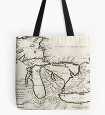 Vintage Map of The Great Lakes (1744) Tote Bag