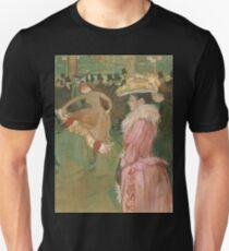 Henri de Toulouse-Lautrec  - At the Moulin Rouge The Dance (1890)Woman Portrait Fashion Unisex T-Shirt